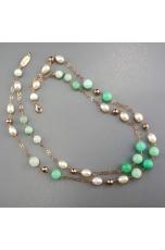 Collana, crisoprasio, perle di fiume