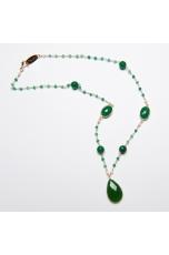 Girocollo agata verde smeraldo