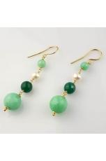 Or giada crisopaz, agata verde, perle di f.