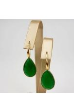 orecchini goccia agata verde smeraldo