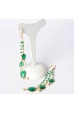 Orecchini castoni agata verde smeraldo