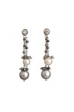Orecchini perle di fiume, ematite