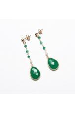Or agata verde smeraldo