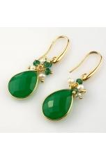 Or agata verde smeraldo, perle di fiume