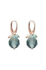 Orecchini, Ossidiana-amazzonite-perle