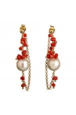 Or perla barocca, corallo sardo