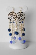 orecchini agata blu zaffiro