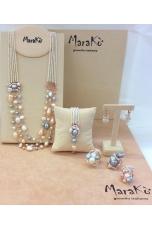 Collana perle multifilo pz unico