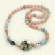 Chanel acquamarina multicolor, perle coltivate, pz unico