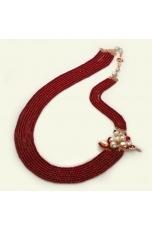 Chanel multifilo agata ruby, perle di fiume. Pz unico