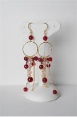 orecchini lunghi agata ruby