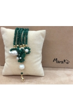 bracciale agata verde smeraldo