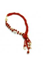 collana corallo bamboo rosso