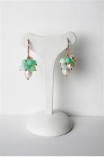 orecchini crisoprasio-perle coltivate