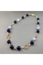 collier agata blu zaffiro