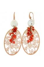 orecchini corallo rosa naturale