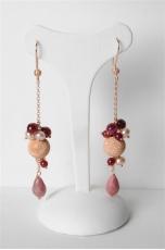 orecchini rodonite agata ruby