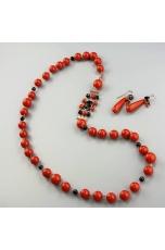 Chanel corallo bamboo red, agata nera