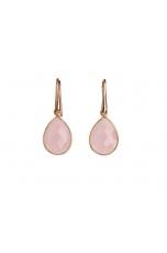 orecchini goccia quarzo rosa