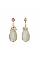 Orecchini perle coltivate- labradorite