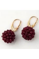 orecchini tessuti a mano in agata ruby