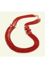 Chanel corallo bamboo, Corallo Sardo, Perle coltivate