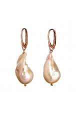 orecchini perle barocche rosa