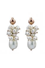 orecchini perle coltivate bianche