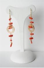 Orecchini corallo rosso sardo