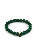 Bracciale elastico agata verde smeraldo