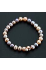 Bracciale perle coltivate  multicolor 8 mm