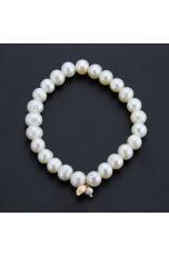 Bracciale perle coltivate  bianche 8 mm