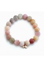 Bracciale opale rosa 10 mm