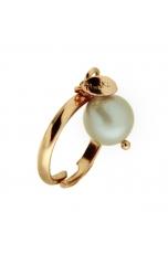 anello perla coltivata grigio polvere