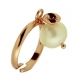 anello le meline, perla coltivata bianca