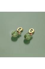 orecchini quarzo rutilato verde