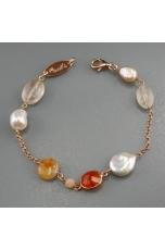 Br agata multicolor, perle di fiume