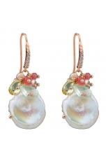 Orecchini perle biwa coltivate