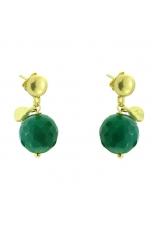 Orecchini agata verde smeraldo