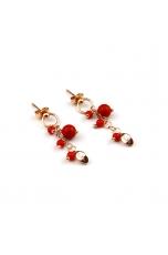 Orecchini corallo bamboo rosso