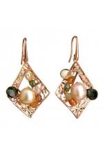Orecchini tormaline perle coltivate