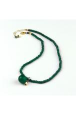 Choker Agata verde smeraldo con melina