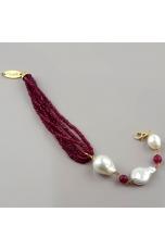 Br agata ruby, perle di fiume