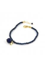 Bracciale agata blu zaffiro