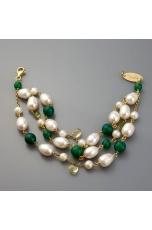 Br agata verde, citrino, peridot, perle di fiume