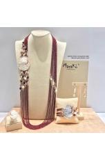 Parure Granato taglio diamond, Cammeo, perle coltivate