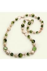 Chanel quarzo muschiato, perle coltivate
