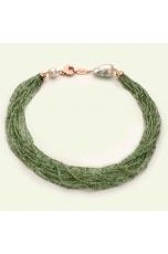 Torchon quarzo rutilato verde 2 mm taglio diamond, perle coltivate