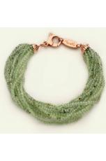 Bracciale quarzo rutilato verde 2 mm diamond