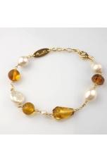 Br ambra messicana, perle di fiume